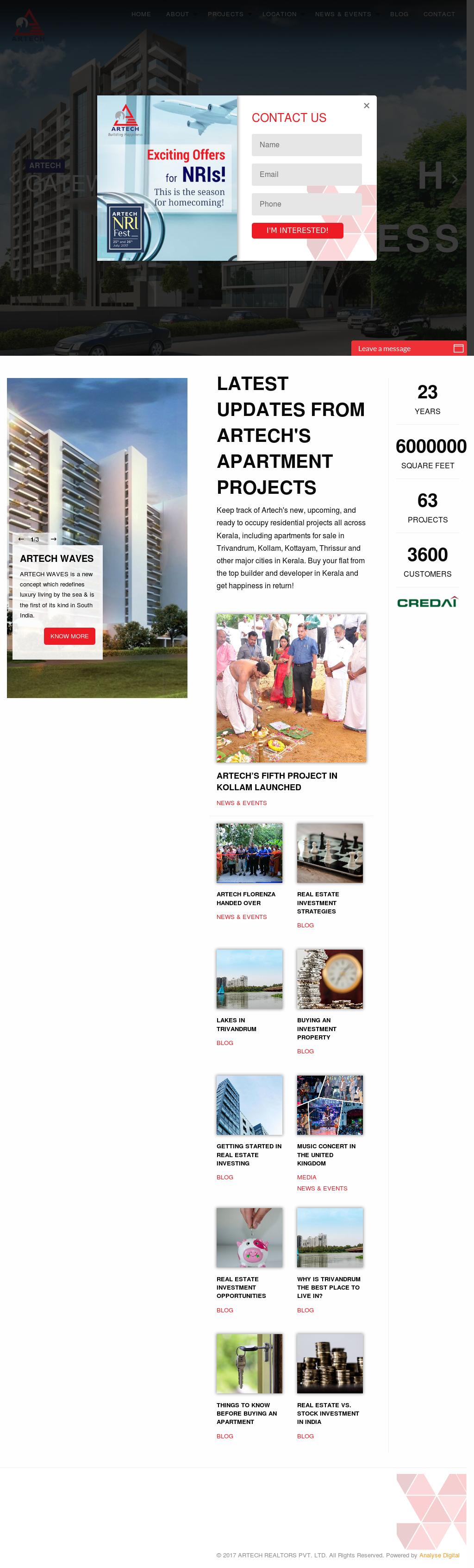 Artech Realtors Competitors, Revenue and Employees - Owler Company