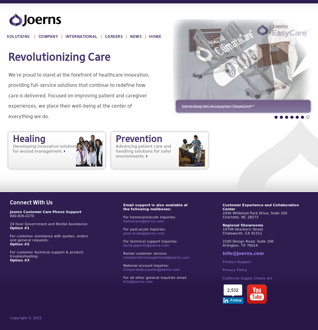 Joerns Healthcare Competitors Revenue And Employees