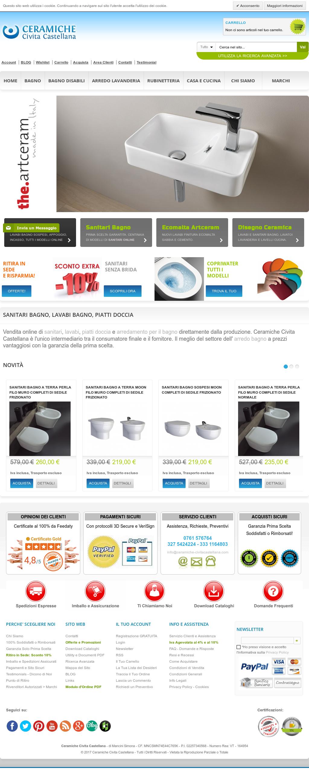 Ceramiche sanitari e arredo bagno for Sanitari bagno