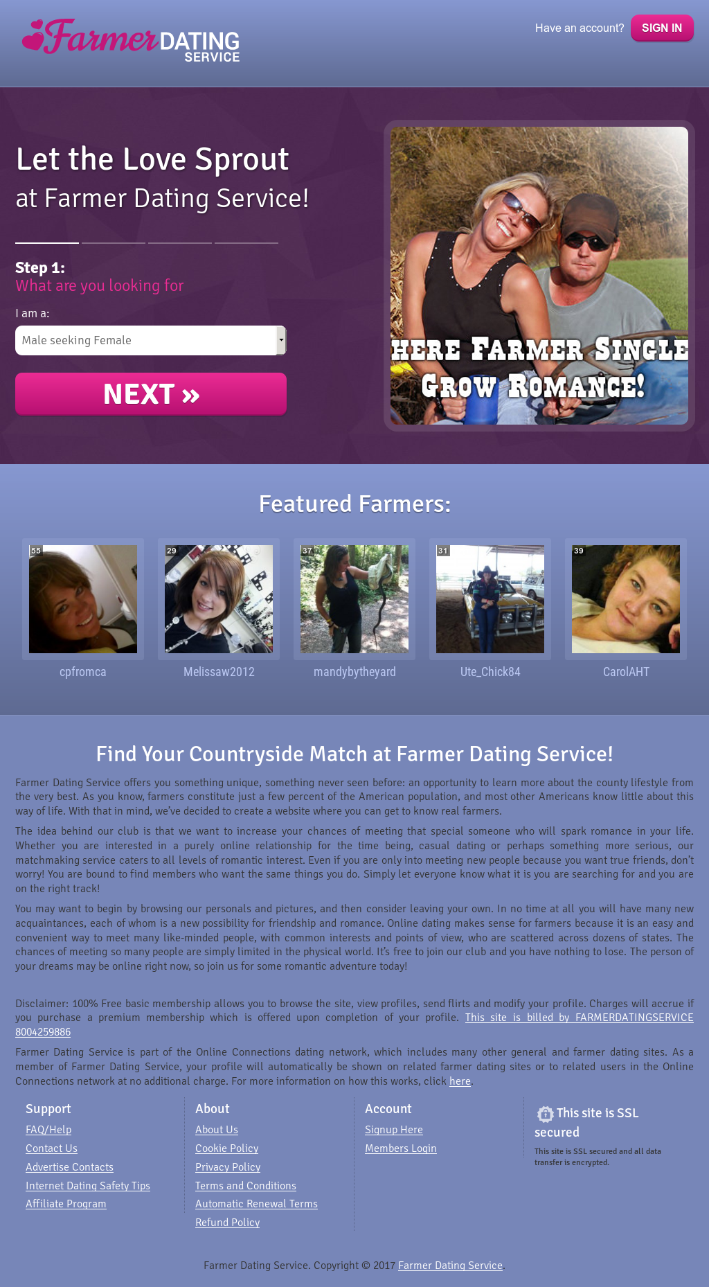 Farmers.com online dating