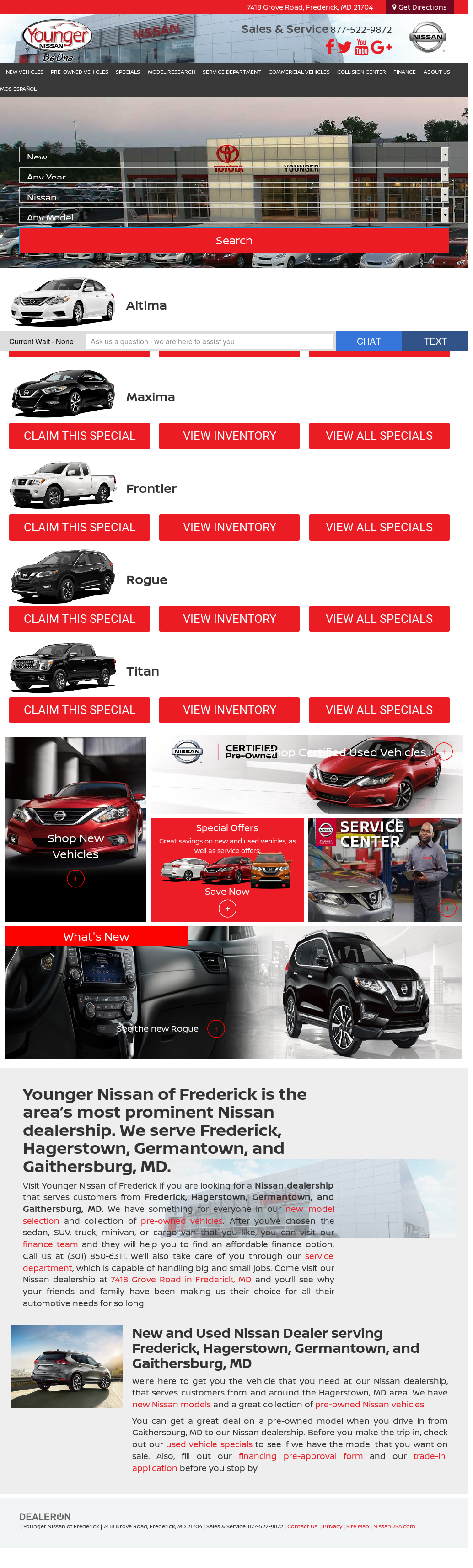 Younger Nissan Of Frederick Compeors, Revenue and Employees ...