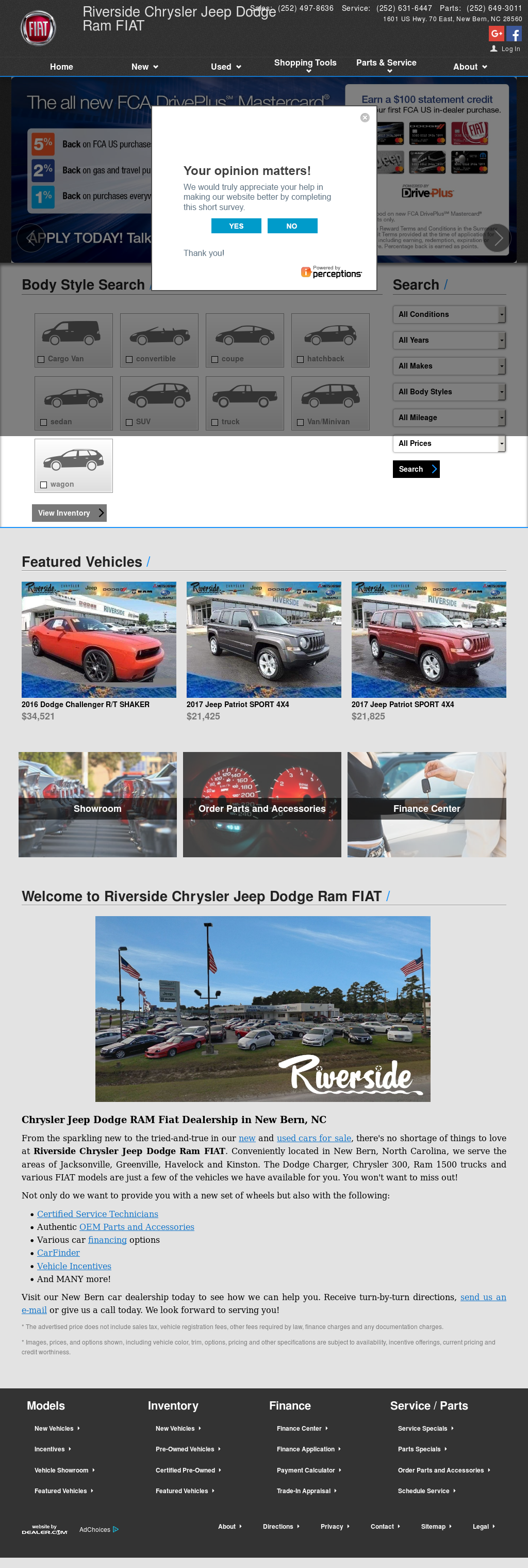 Riverside Chrysler Jeep Dodge Website History