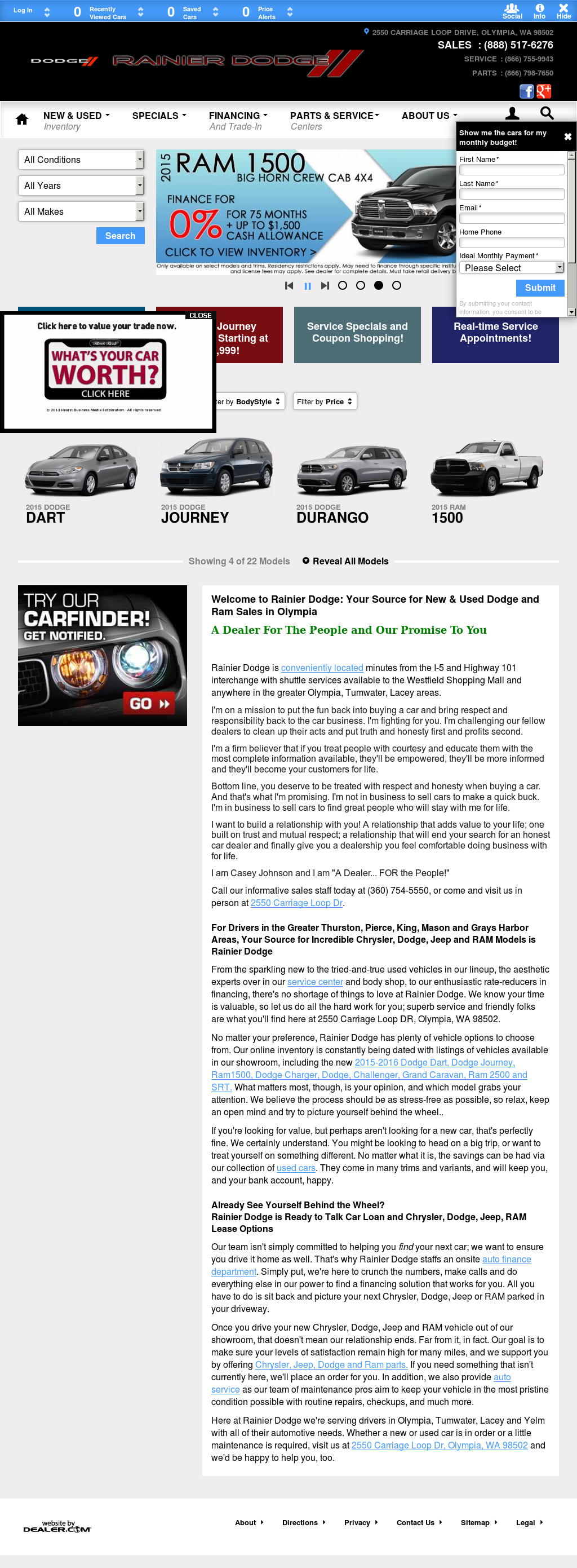 Rainier Dodge petitors Revenue and Employees Owler pany Profile