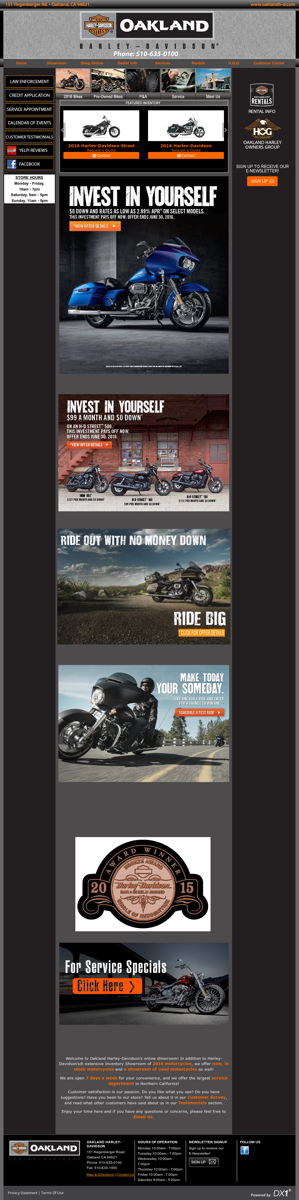 Oakland Harley Davidson Competitors Revenue And Employees