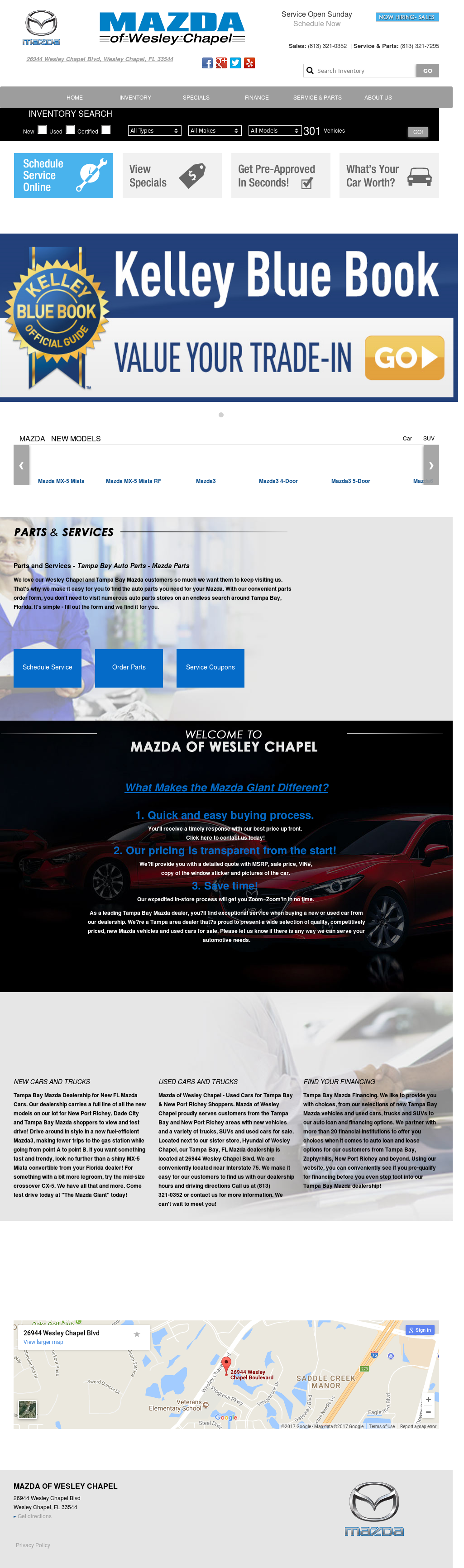 Mazda Of Wesley Chapel Website History