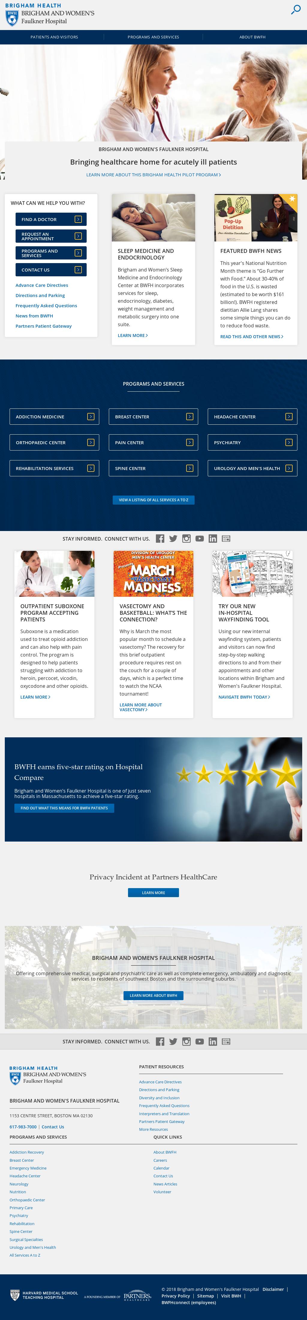 Brigham And Women's Faulkner Hospital Competitors, Revenue