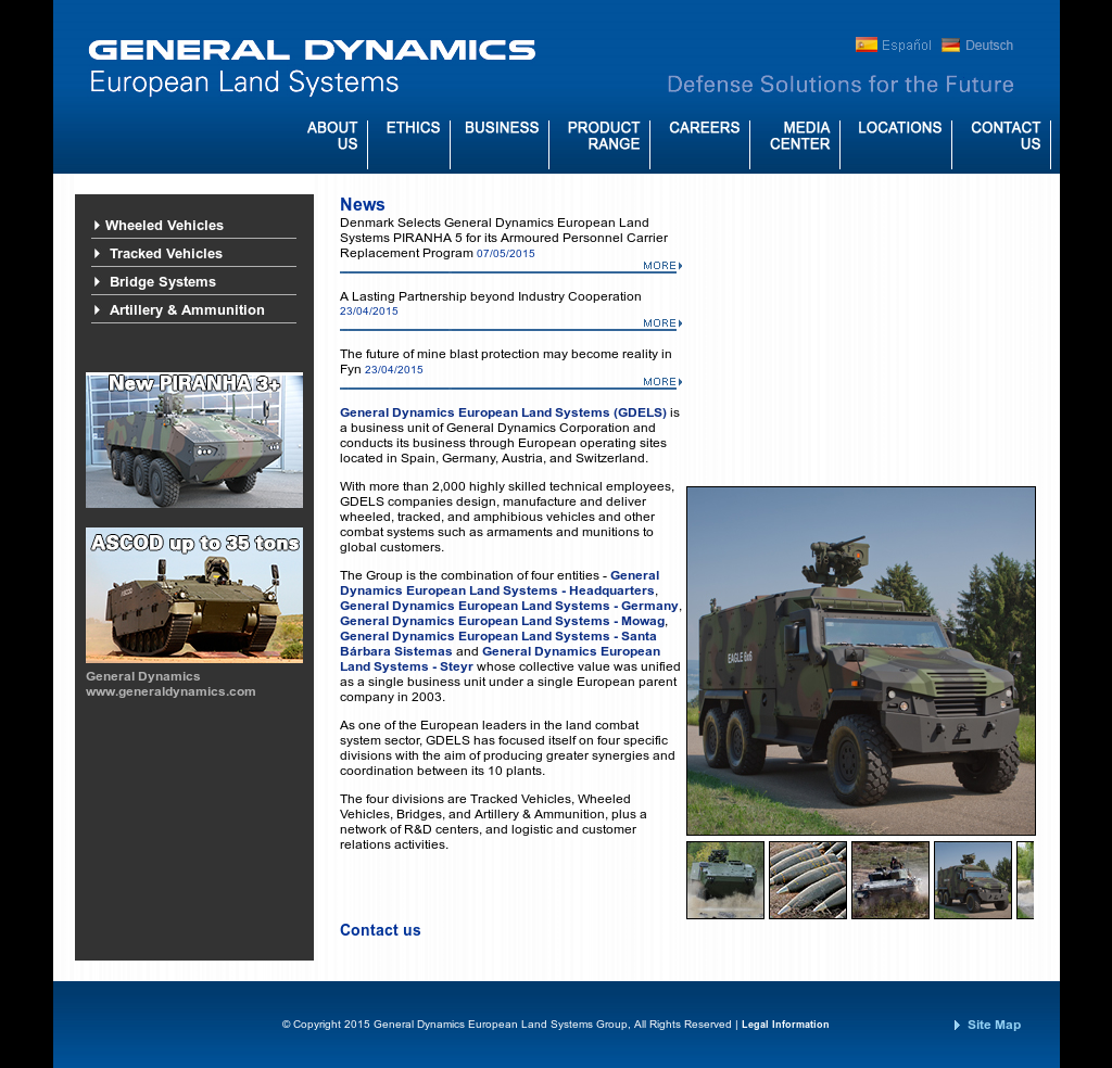 General Dynamics European Land Systems Competitors, Revenue