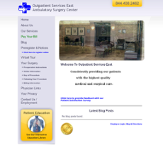 Outpatient Services East website history