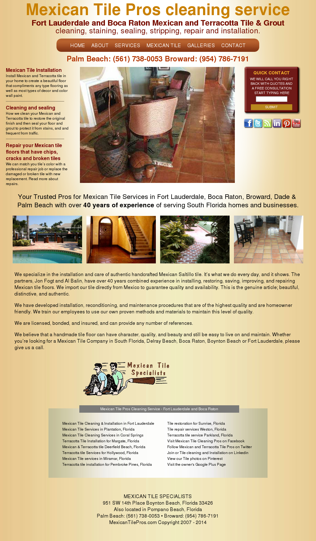 Mexican Tile Pros Cleaning Installation And Repair