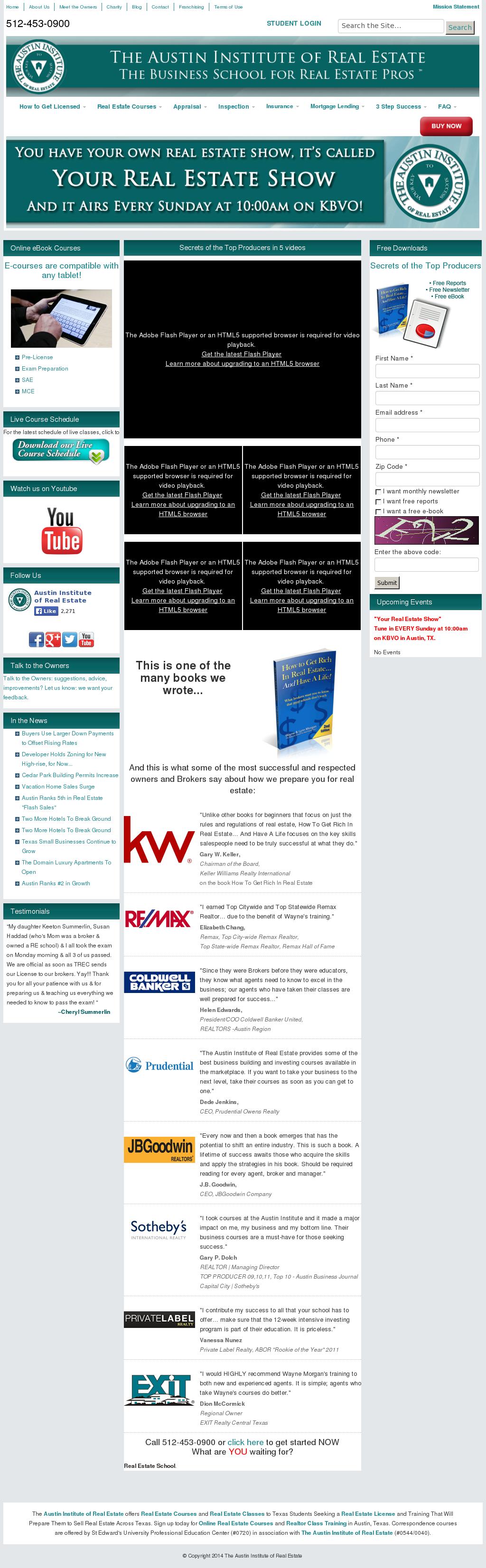 The Austin Institute of Real Estate Competitors, Revenue and