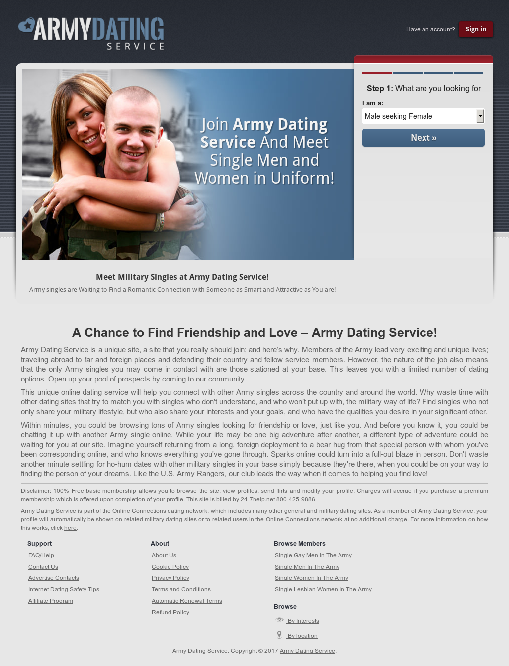 Military connections dating service