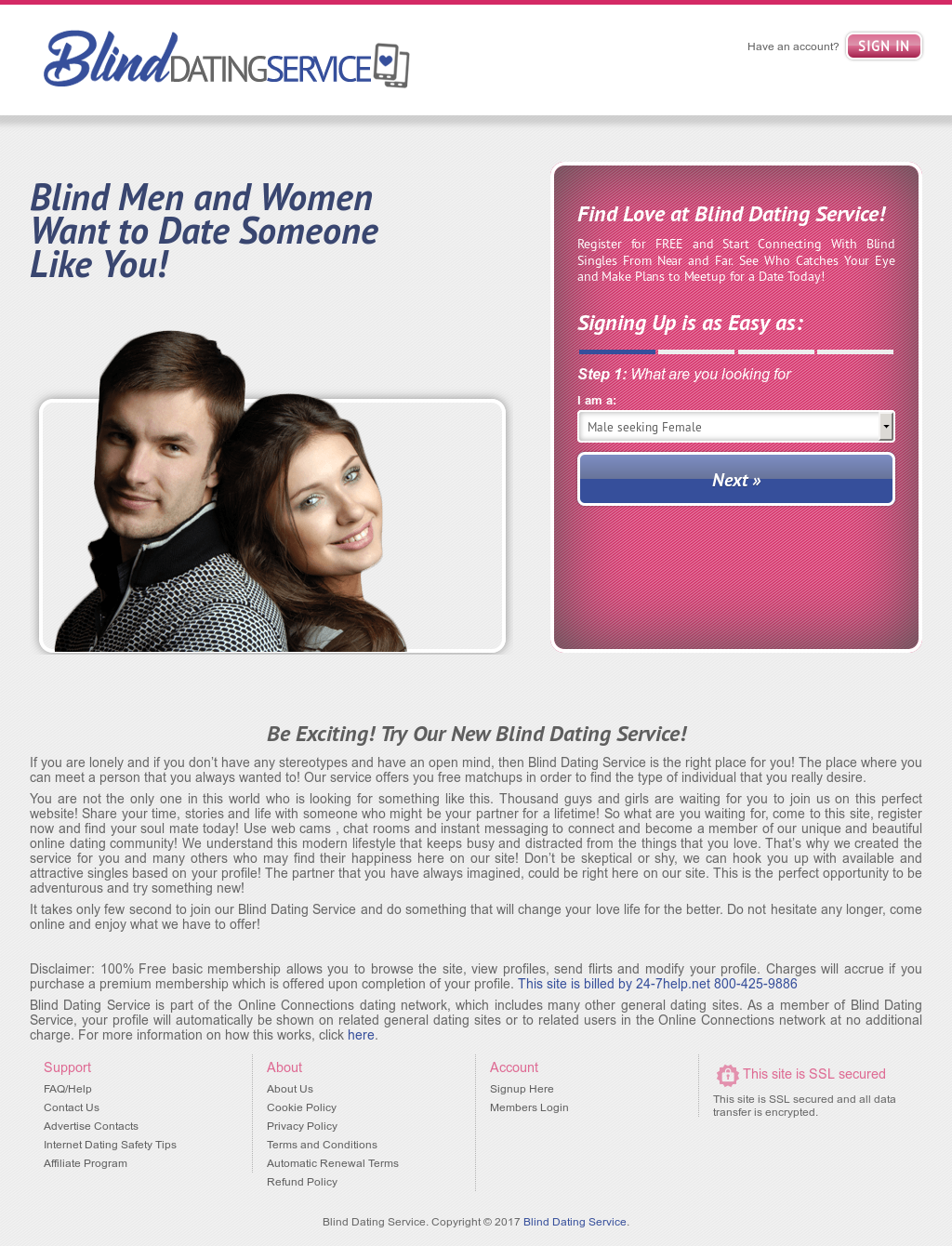 blind dating site free