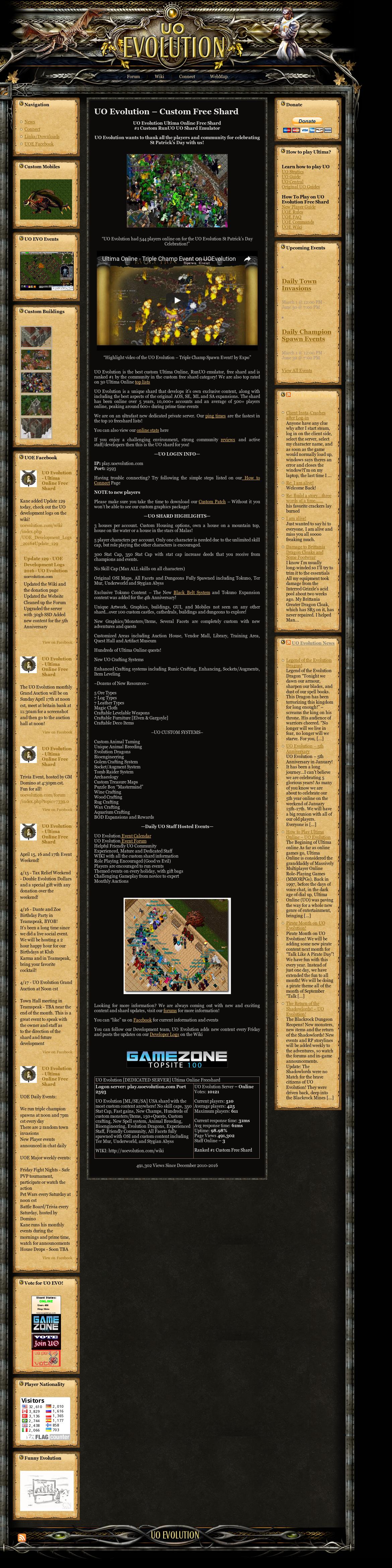 Uo Evolution - Ultima Online Free Shard Competitors, Revenue