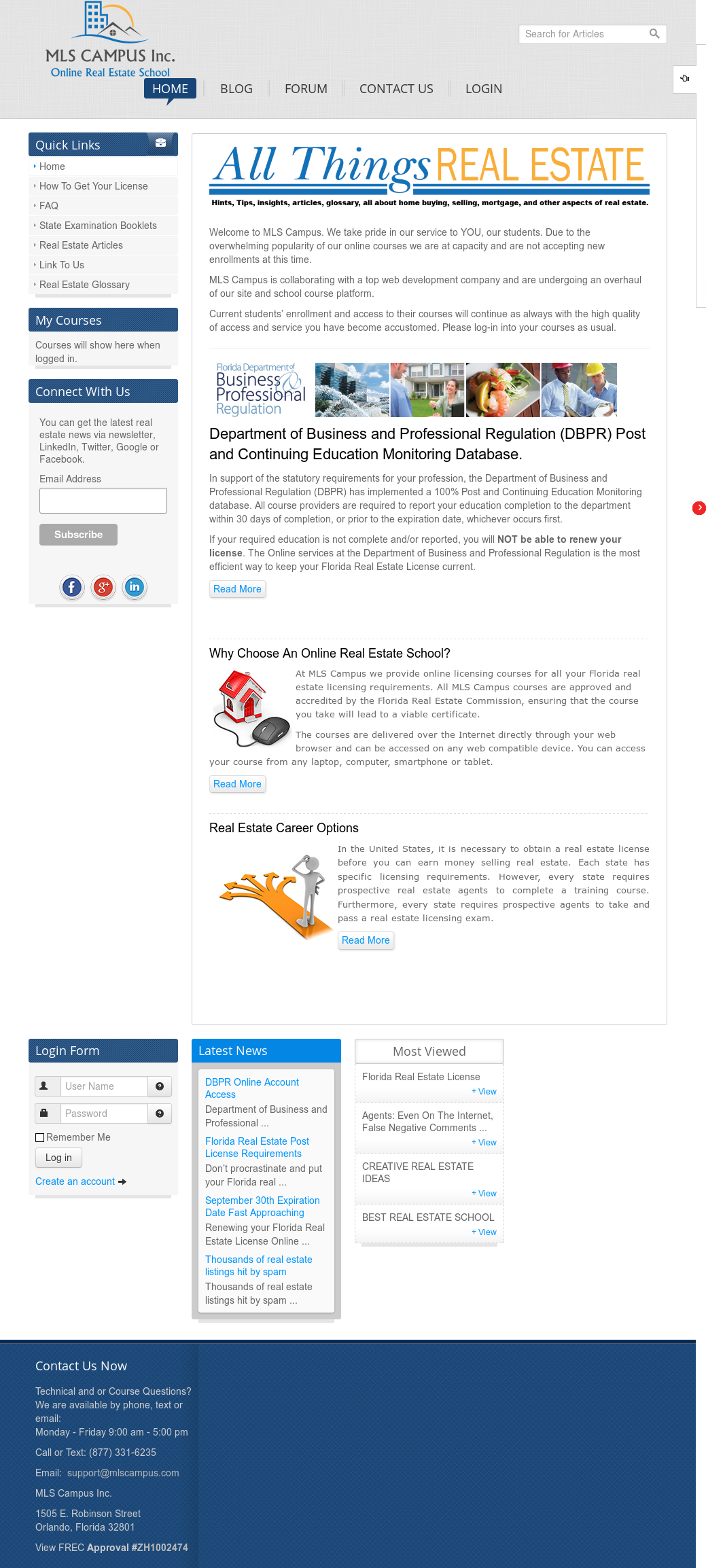 Mls Campus Real Estate School Competitors, Revenue and