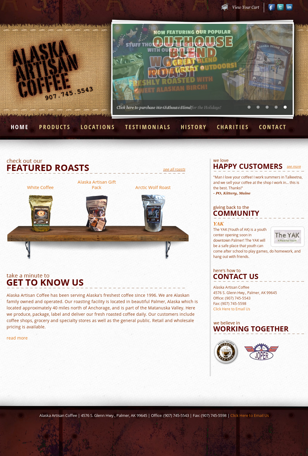 alaska coffee company Looking for coffee in juneau heritage coffee is juneau's hometown roaster and the oldest privately-owned coffee roasting company in alaska.
