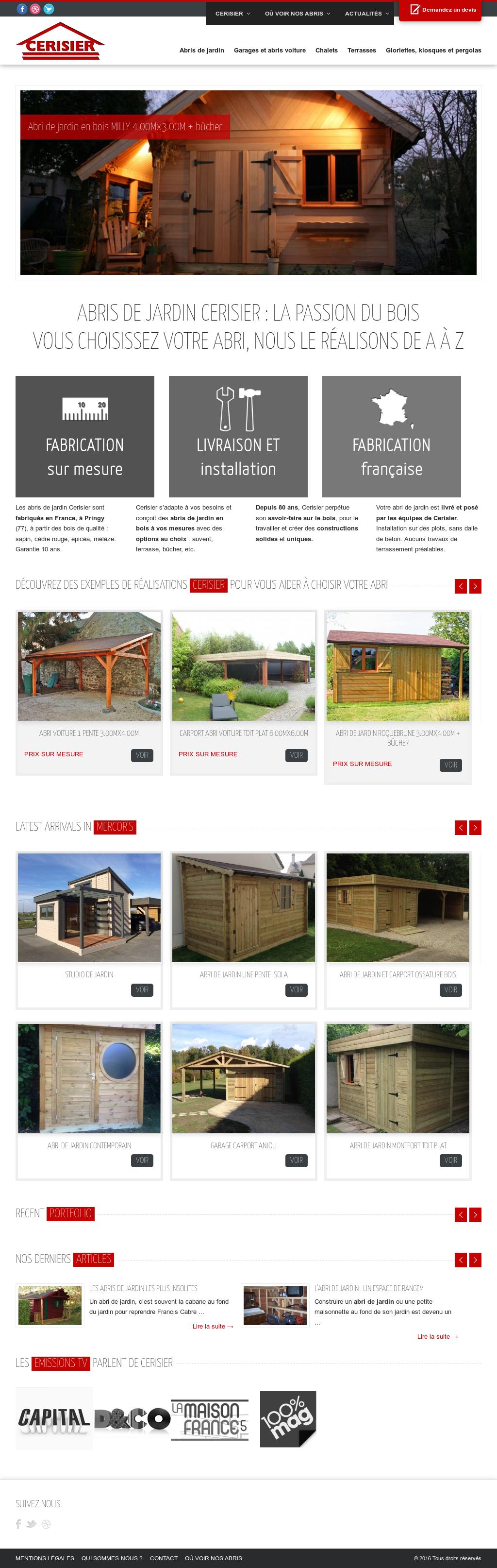 Abri De Jardin Composite cerisier > abri de jardin competitors, revenue and employees