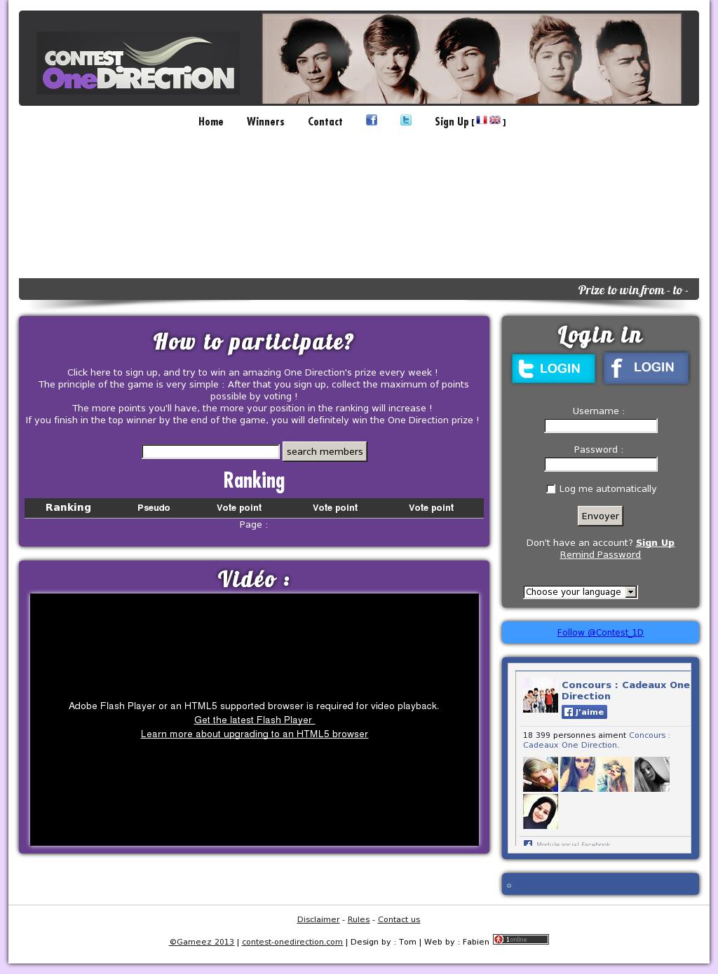 Concours : Cadeaux One Direction Competitors, Revenue and
