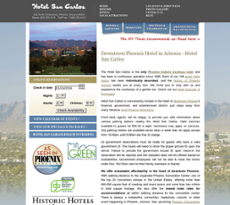 Hotel San Carlos website history