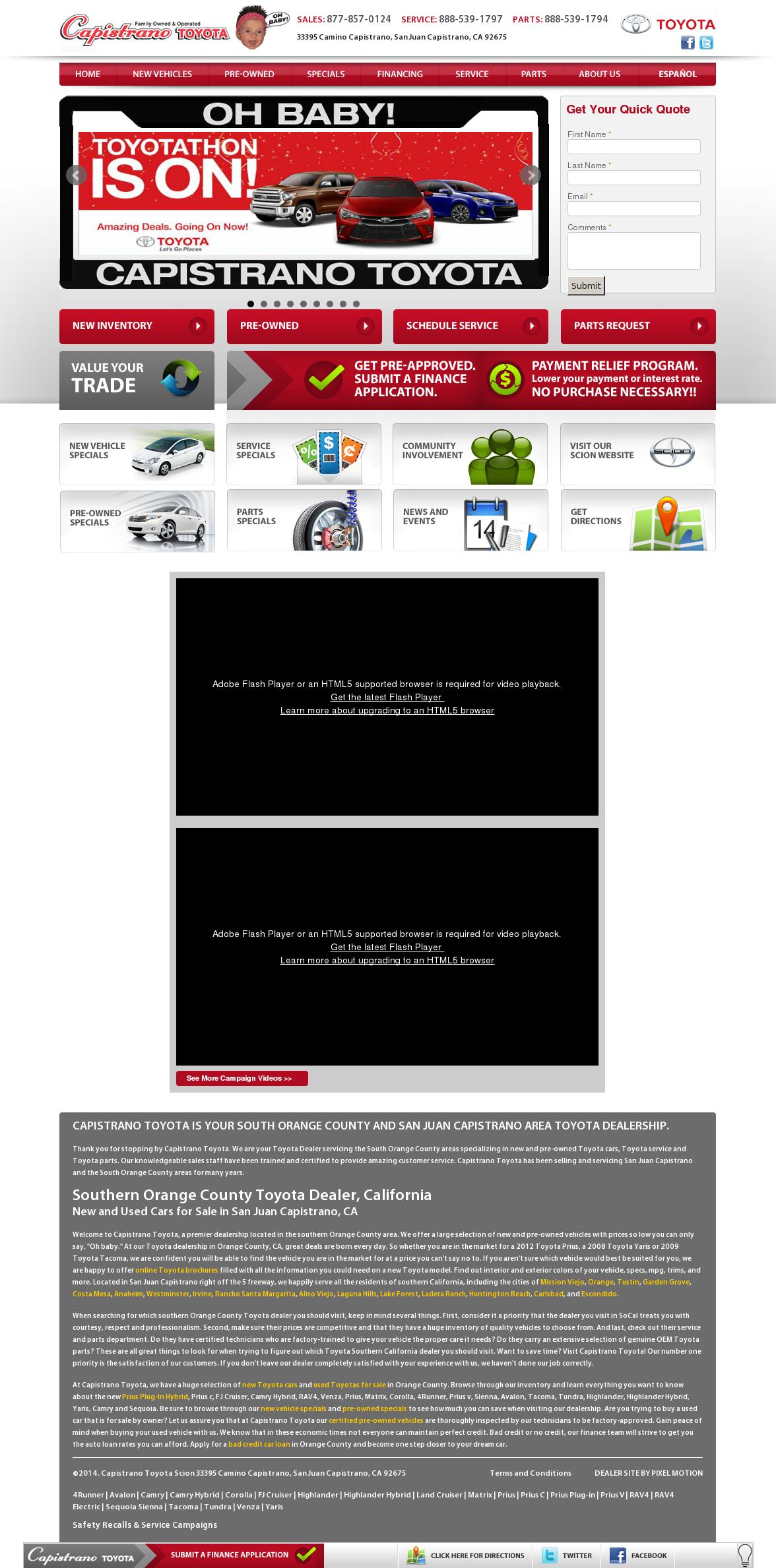 Capistrano Toyota Competitors, Revenue And Employees   Owler Company Profile