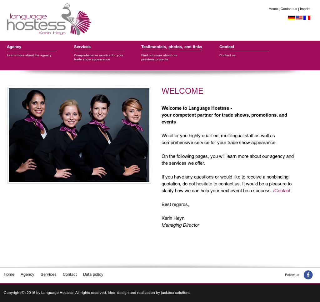 Hostess website