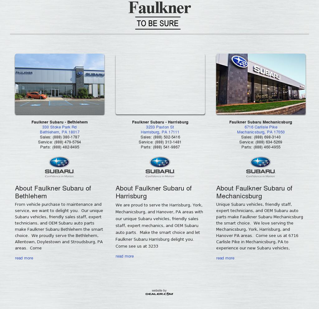 Faulkner Subaru Bethlehem Competitors Revenue And Employees
