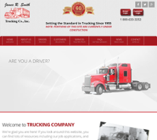 James R. Smith Trucking website history