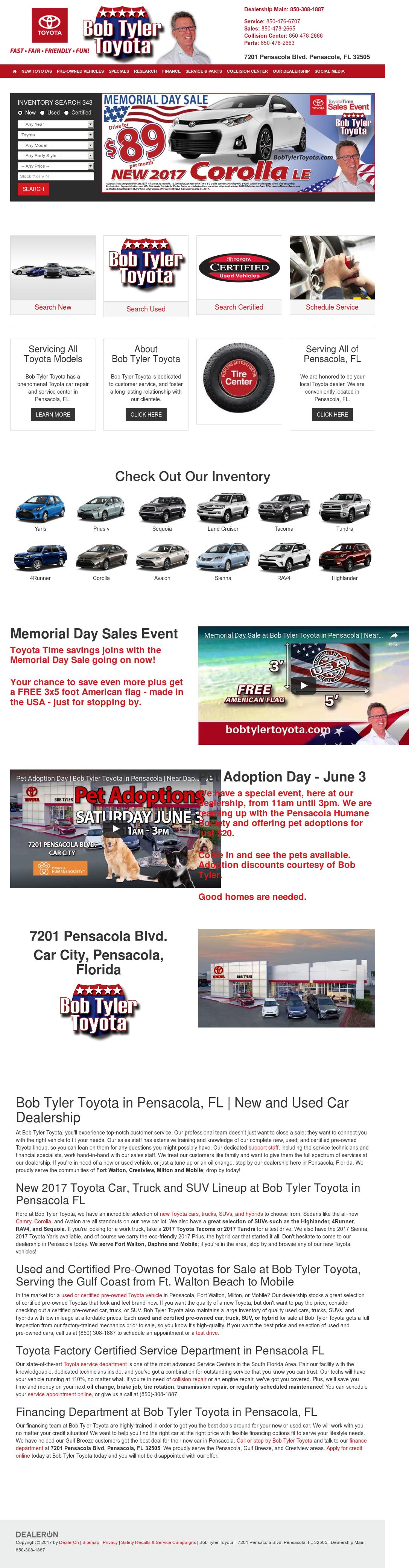 Bob Tyler Toyota Website History