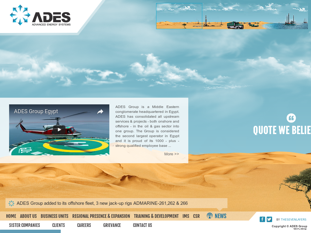 Owler Reports - Ades Group: ADES clinches 2-year jack-up