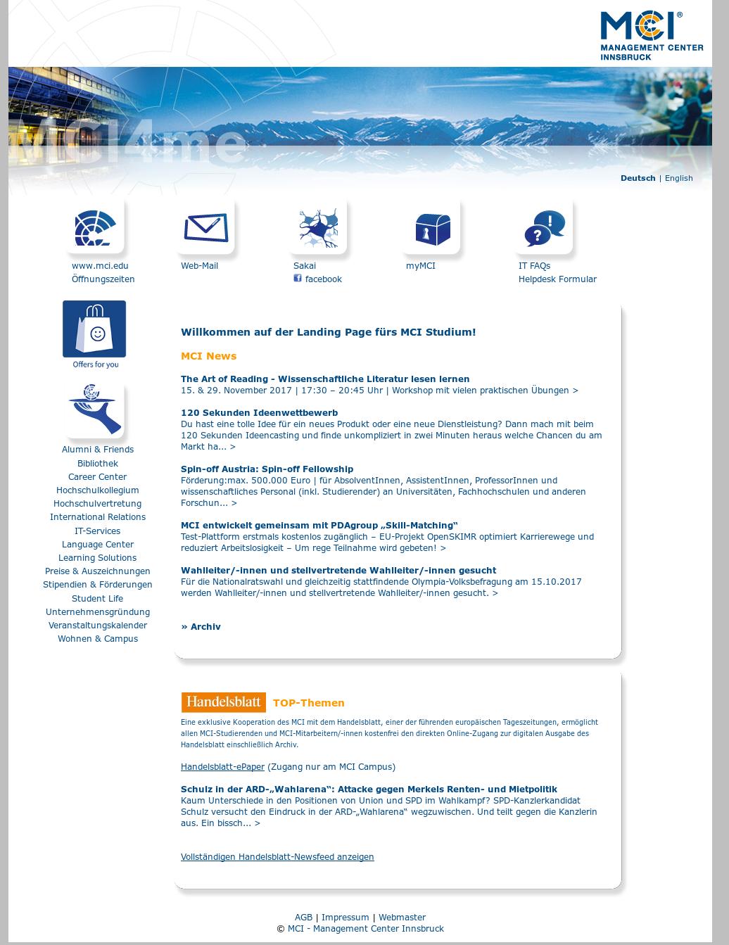 Mci4Me's website screenshot on Sep 2017