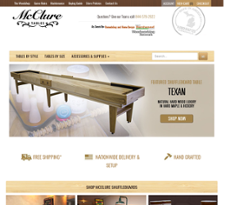 Mcclure Tables Website History