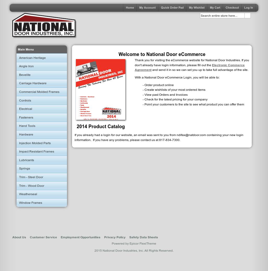 National Door Industries Website History