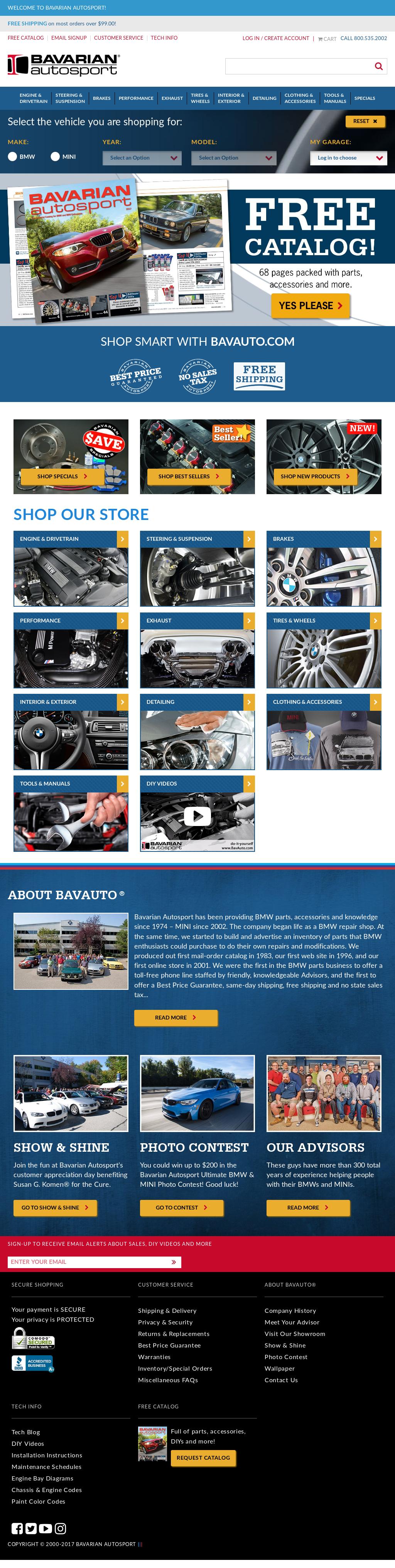 Bavarian Autosport's website screenshot on Jun 2017