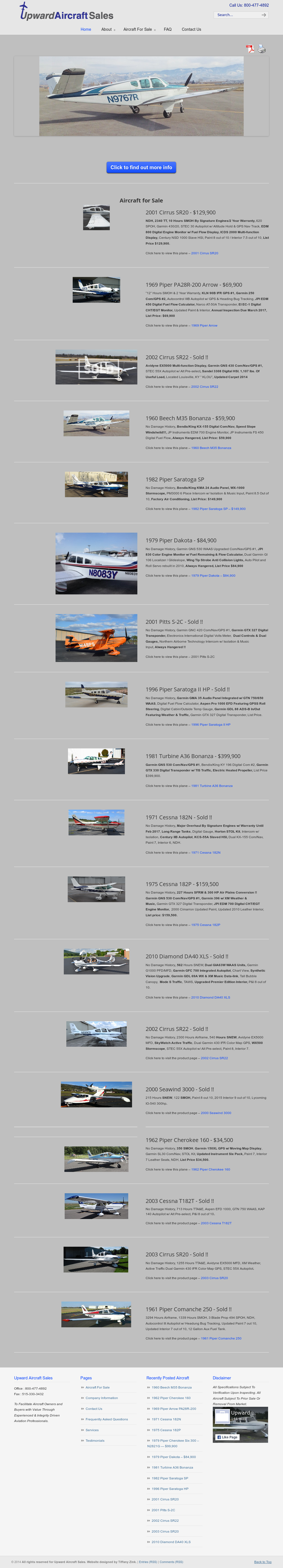 For Upward Aircraft Sales Competitors, Revenue and Employees - Owler