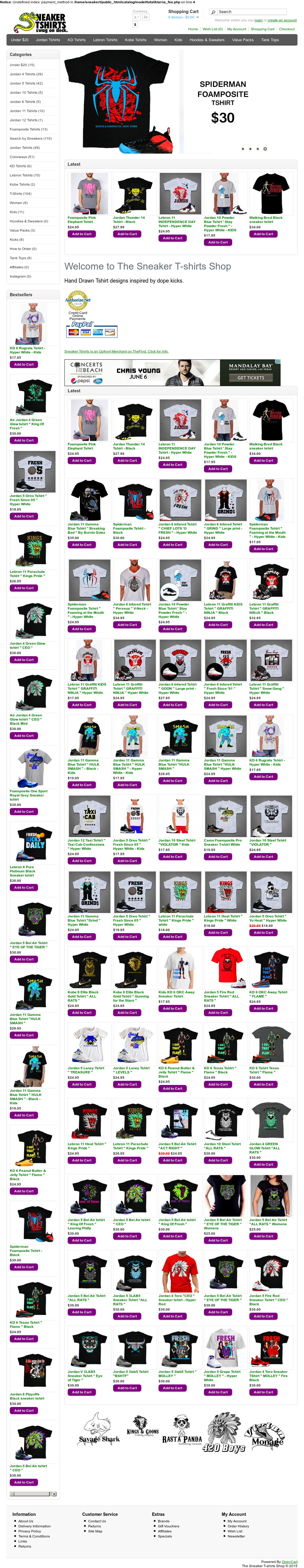 6e1b6a7453a7 The Sneaker T-shirts Shop Competitors
