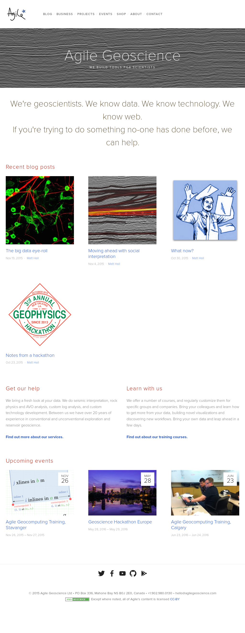 Owler Reports - Agile Geoscience Blog x lines of Python: read and
