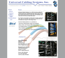 Universal Cabling Systems website history