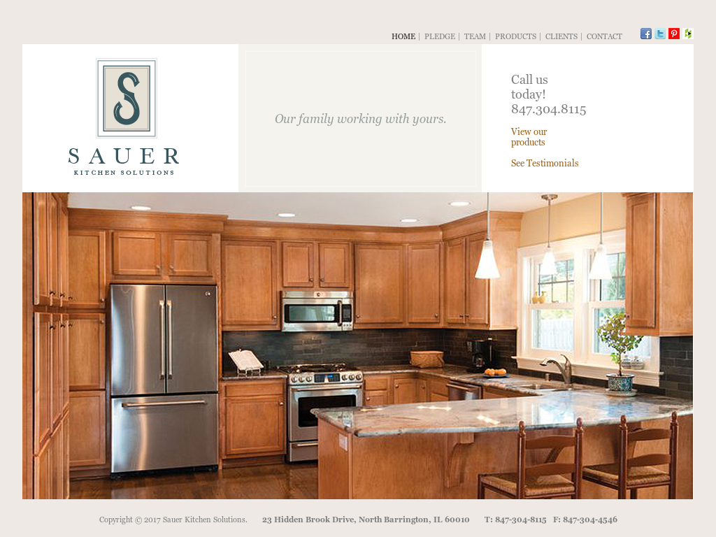 sauer kitchen solutions website history - Kitchen Solutions