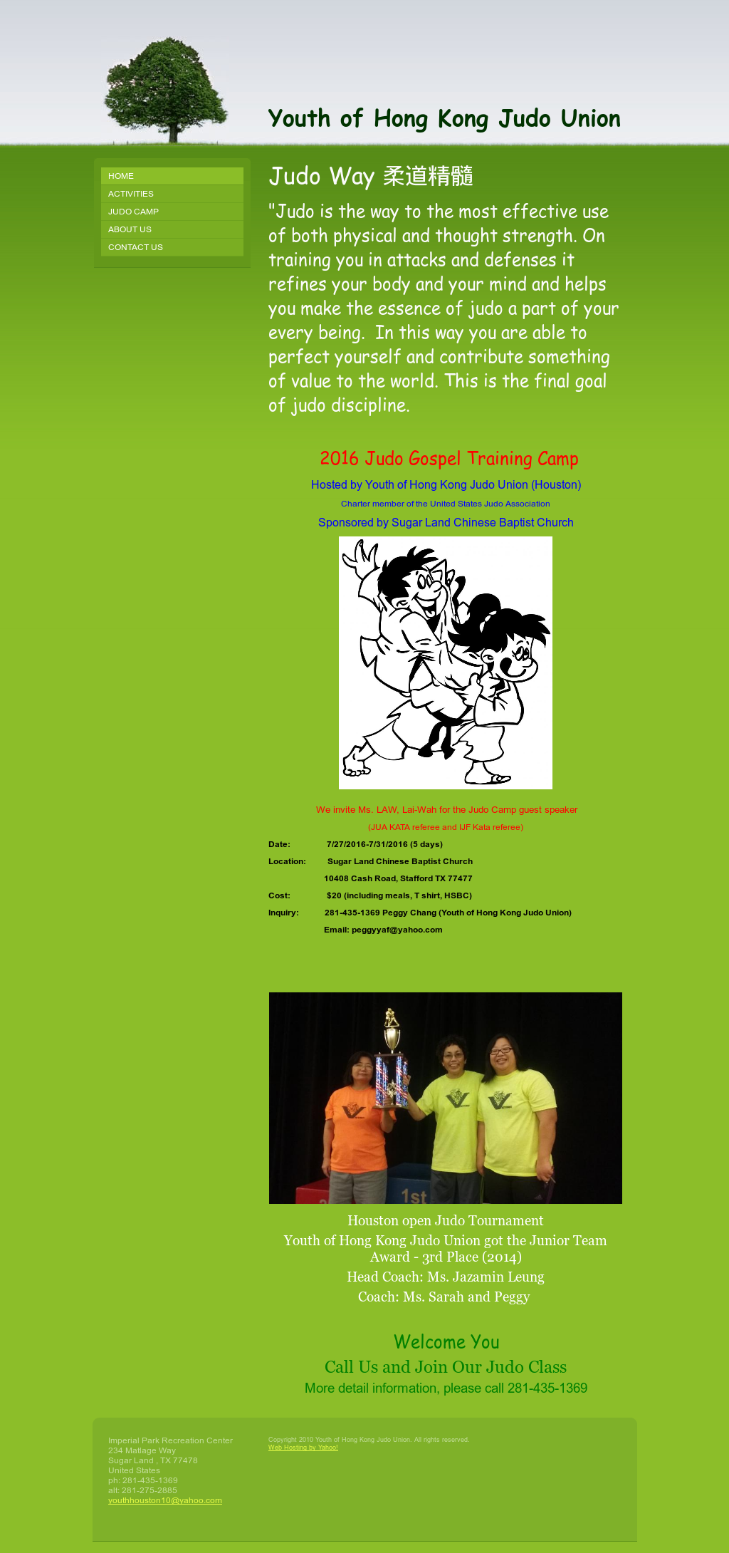 Youth Of Hong Kong Judo Union Competitors, Revenue and