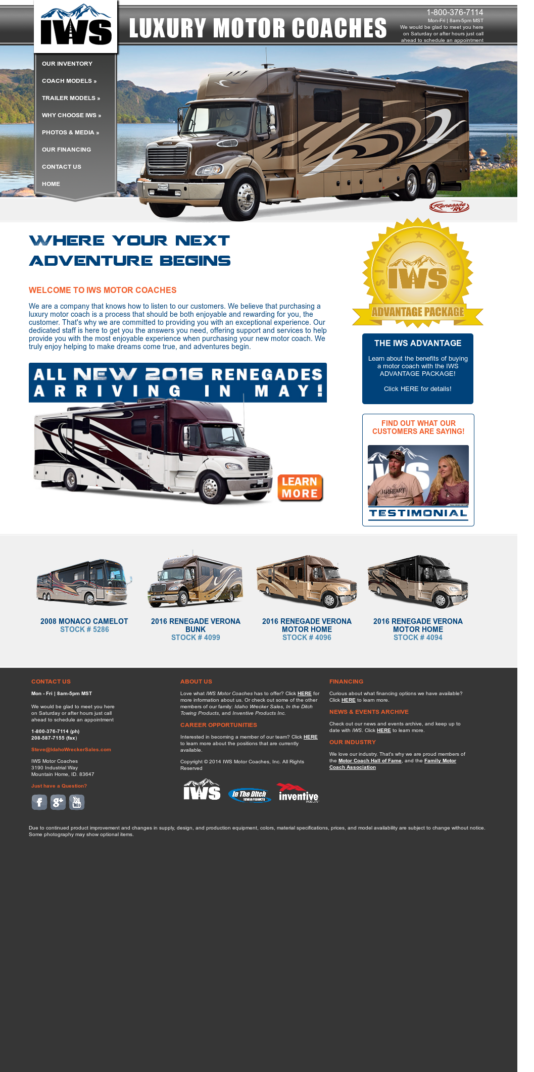 Iws Motor Coaches Competitors, Revenue and Employees - Owler