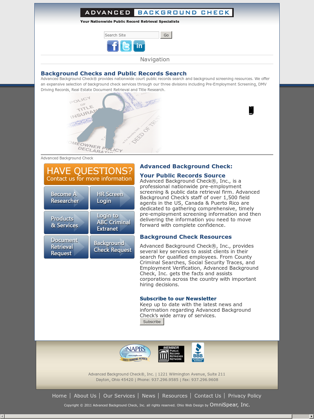 Advanced Background Check Competitors, Revenue and Employees