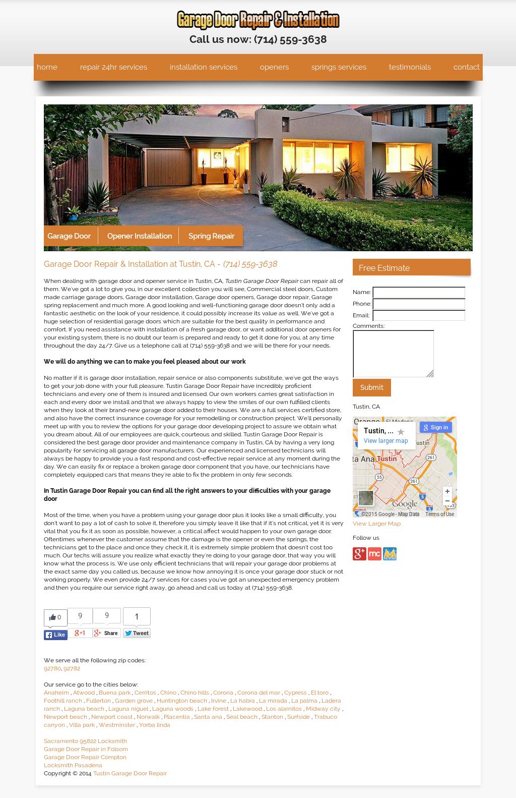 Tustin Garage Door Repair Competitors Revenue And Employees Owler