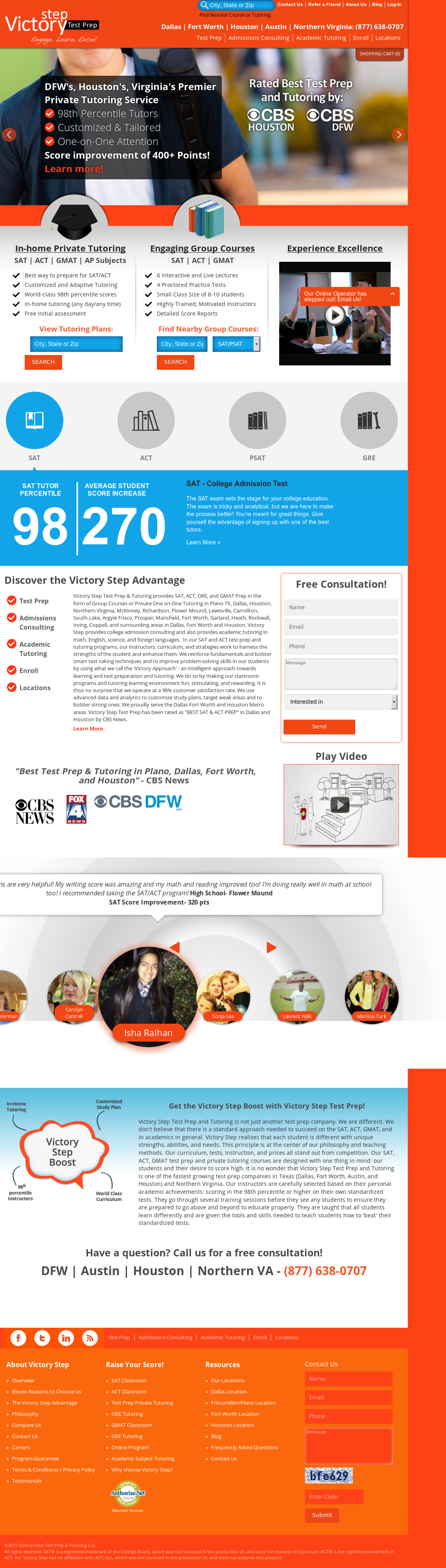 Victory Step Test Prep & Tutoring Competitors, Revenue and