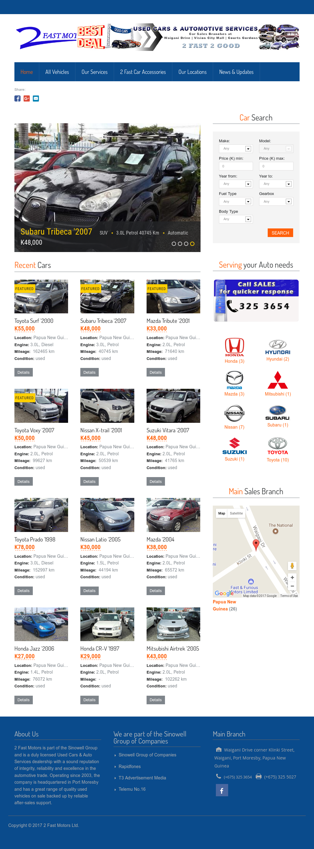 Fast Motors website history
