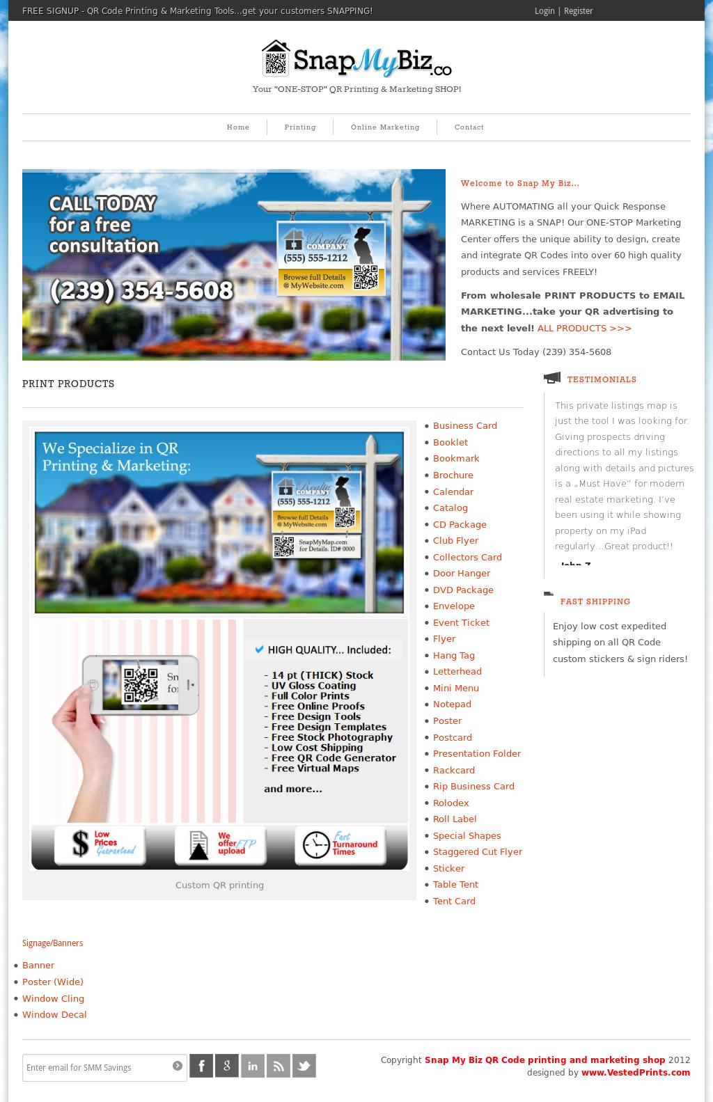 snap my biz qr code printing and marketing shop competitors revenue