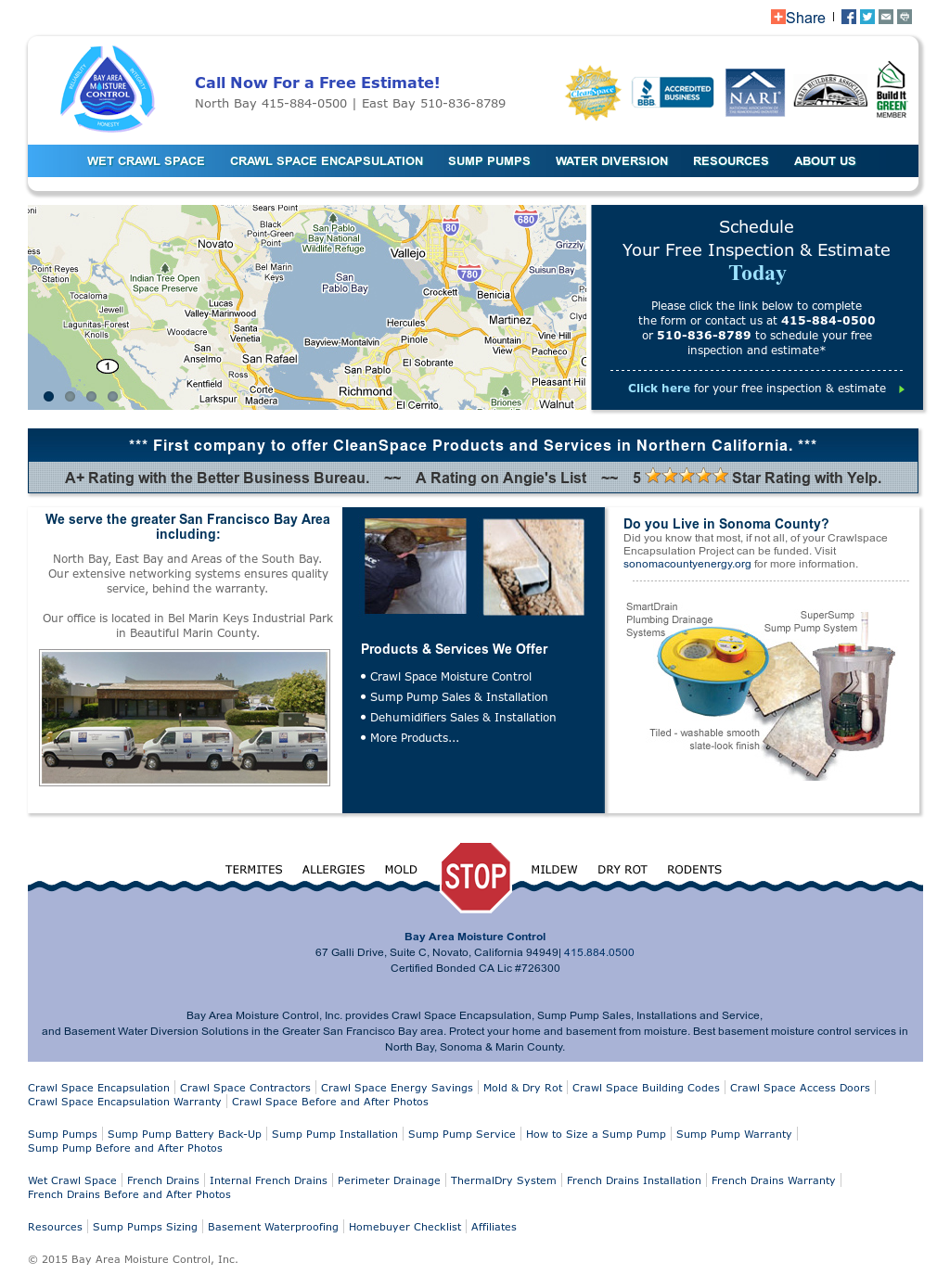 Bay Area Moisture Control Compeors Revenue And Employees Owler Company Profile