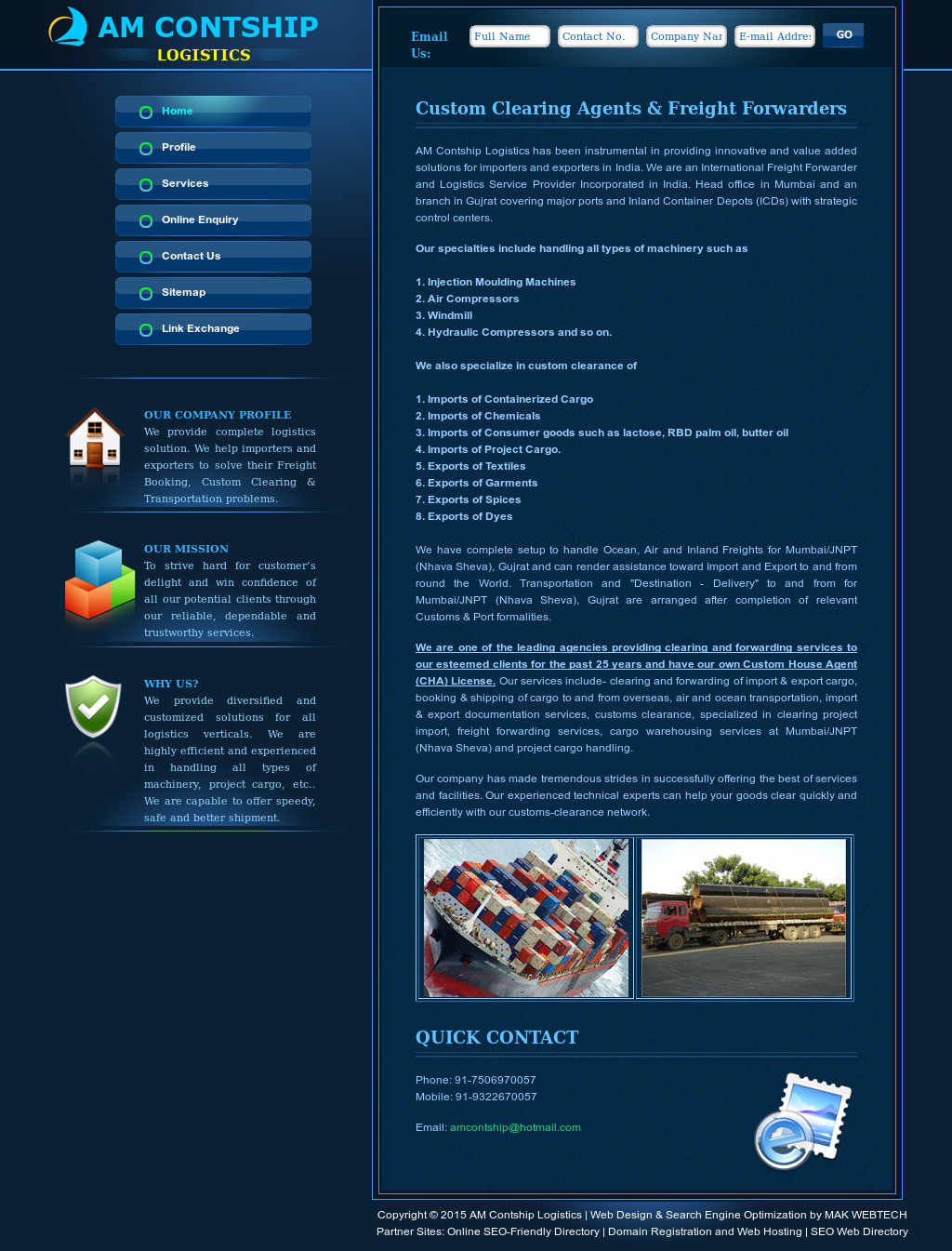 Am Contship Logistics Competitors, Revenue and Employees