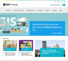 Esri Canada website history