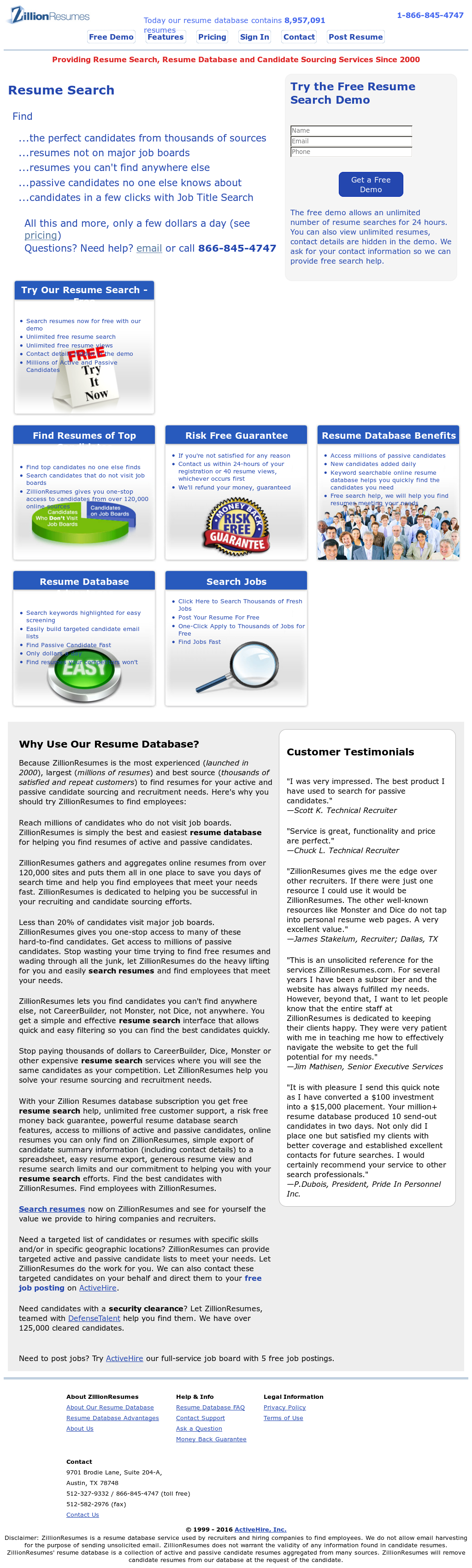 Zillionresumes Competitors Revenue And Employees Owler Company