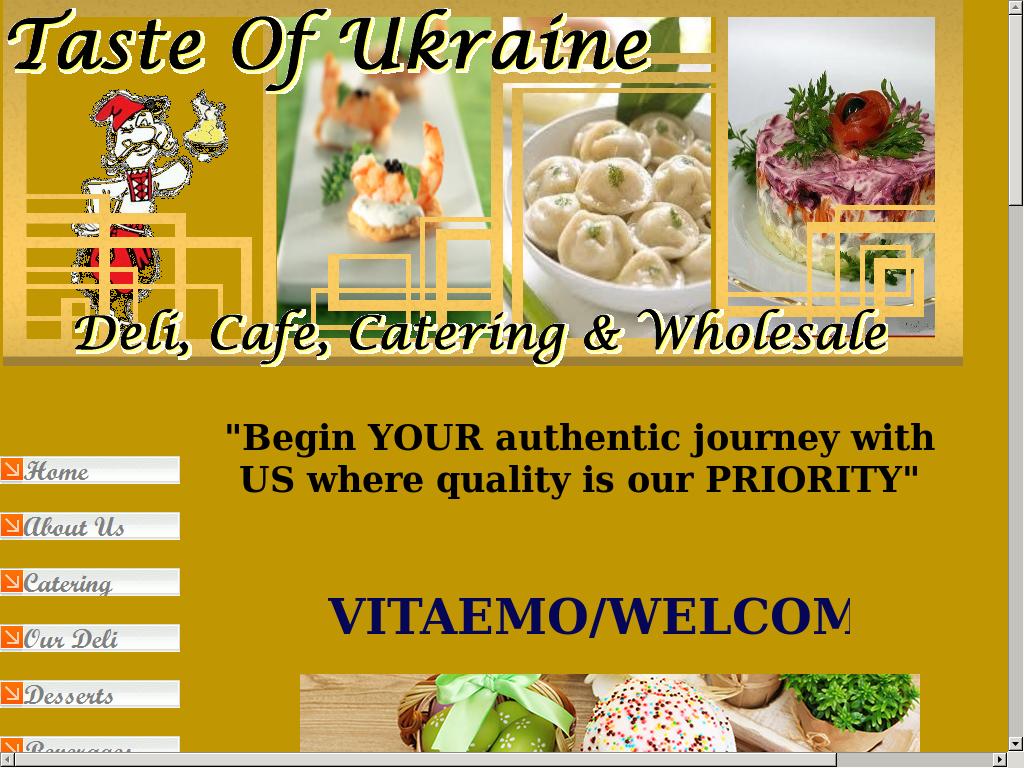 A Taste Of Ukraine Caterings Website Screenshot On Mar 2017