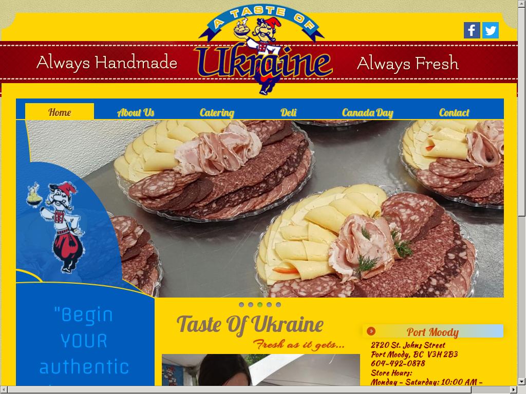 A Taste Of Ukraine Caterings Website Screenshot On Aug 2017